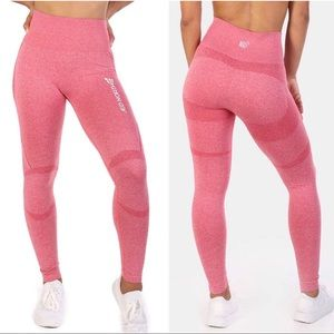 Pants - 🎀 Seamless Pink Supplex Leggings Yoga Gym Fitness